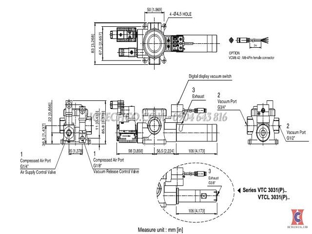 Bản vẽ bơm hút chân không khí nén VMECA VTC