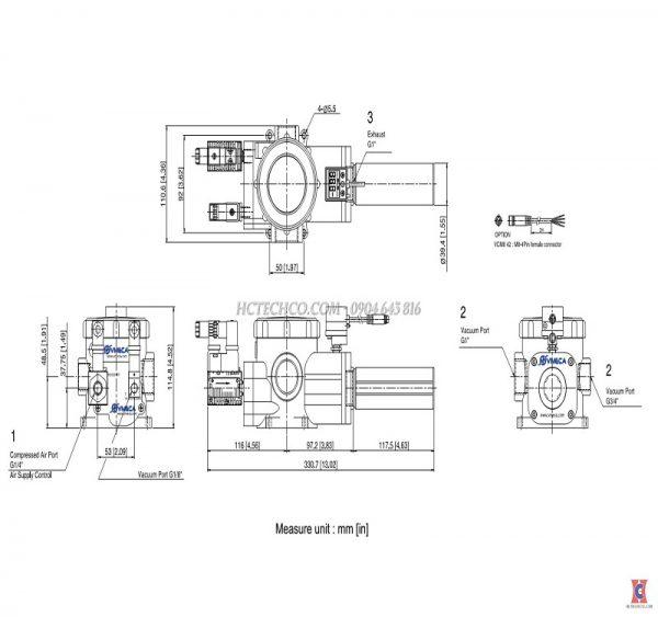 Sơ đồ bản vẽ bơm chân không khí nén VTCL 3122