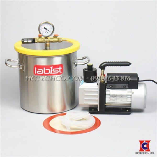 Bộ nồi hút và bơm chân không xử lý bọt khí 14L