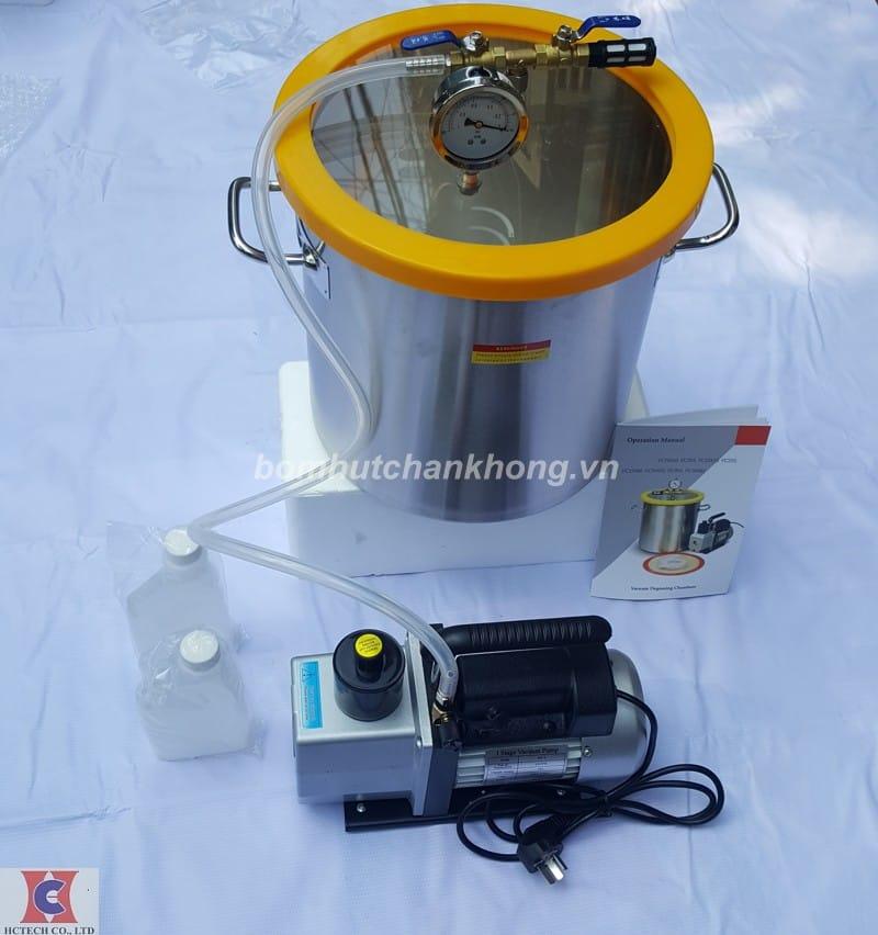 Đập hộp buồng hút chân không xử lý bọt khí silicon chính hãng chất lượng cao
