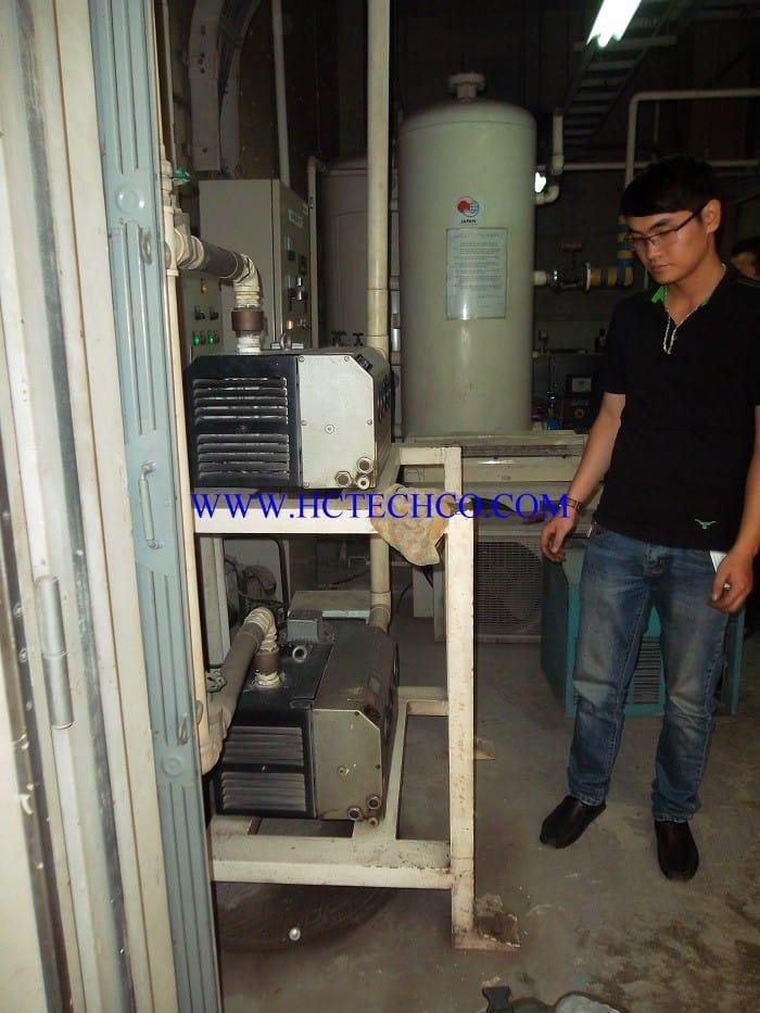 Bảo dưỡng hệ thống bơm hút chân không trung tâm Bệnh viện Bạch Mai