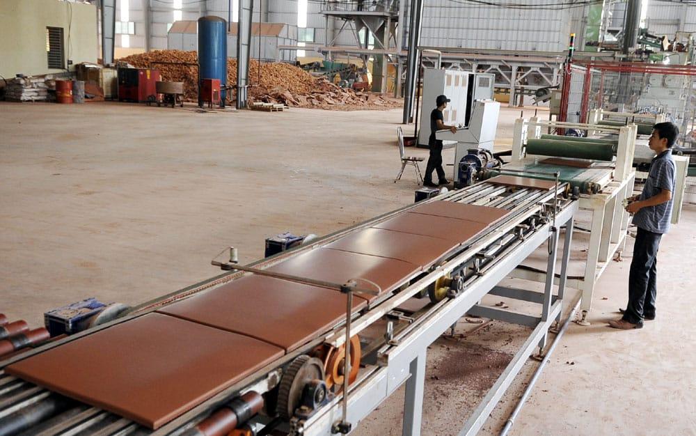 Bơm hút chân không vòng dầu model MVO-300 cho nhà máy gạch Cotto Bắc Giang