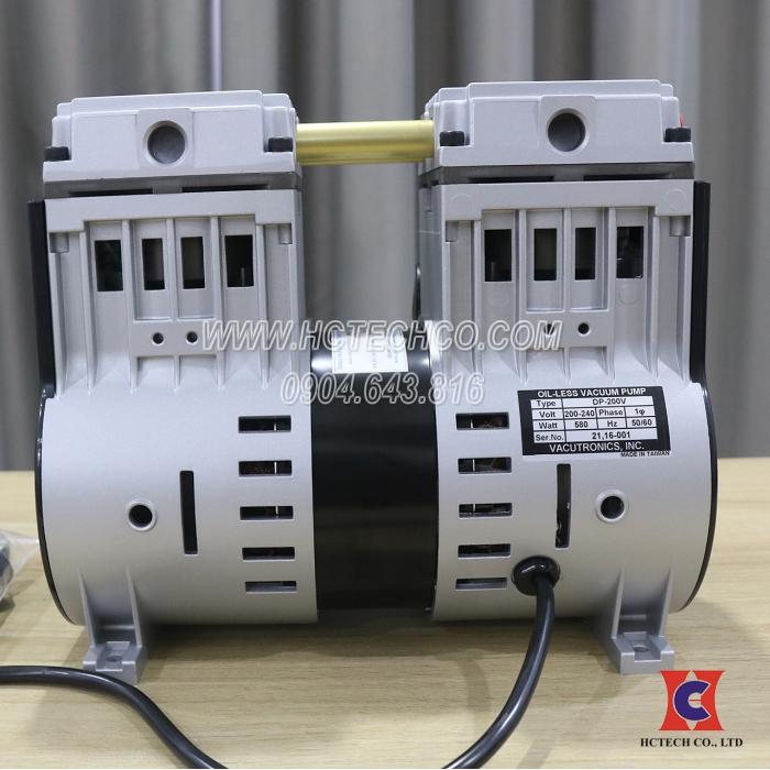 Bơm hút chân không không dầu Kiểu Piston Vacutronic DP-200V
