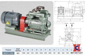 Bơm vòng nước Hanchang 1 cấp Hwvp-1-1100